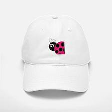 Pink and Black Ladybug Baseball Baseball Baseball Cap
