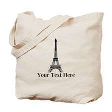 Personalizable Eiffel Tower Tote Bag