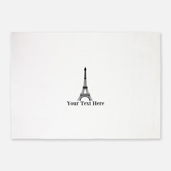 Personalizable Eiffel Tower 5'x7'Area Rug