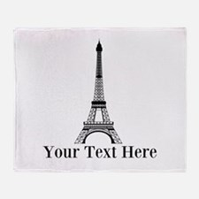 Personalizable Eiffel Tower Throw Blanket