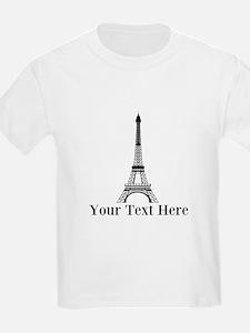 Personalizable Eiffel Tower T-Shirt