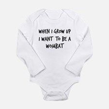 Cute Wombat Long Sleeve Infant Bodysuit