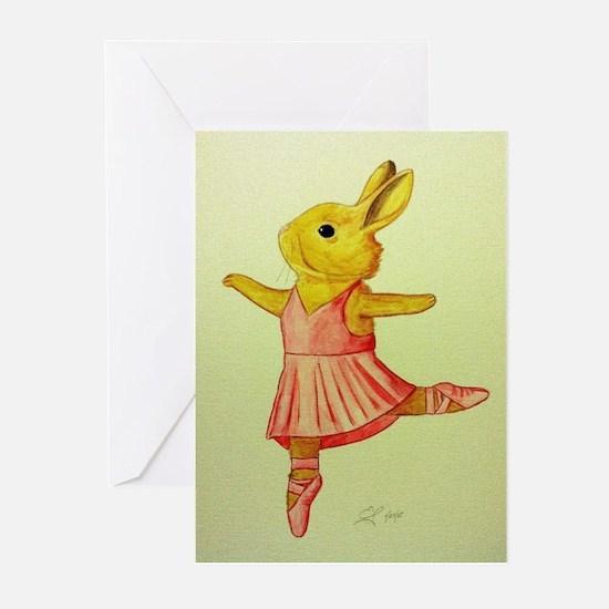 Ballerina Bunny Greeting Cards