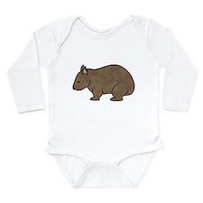Cute Marsupial Long Sleeve Infant Bodysuit