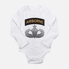 Cute First army Long Sleeve Infant Bodysuit
