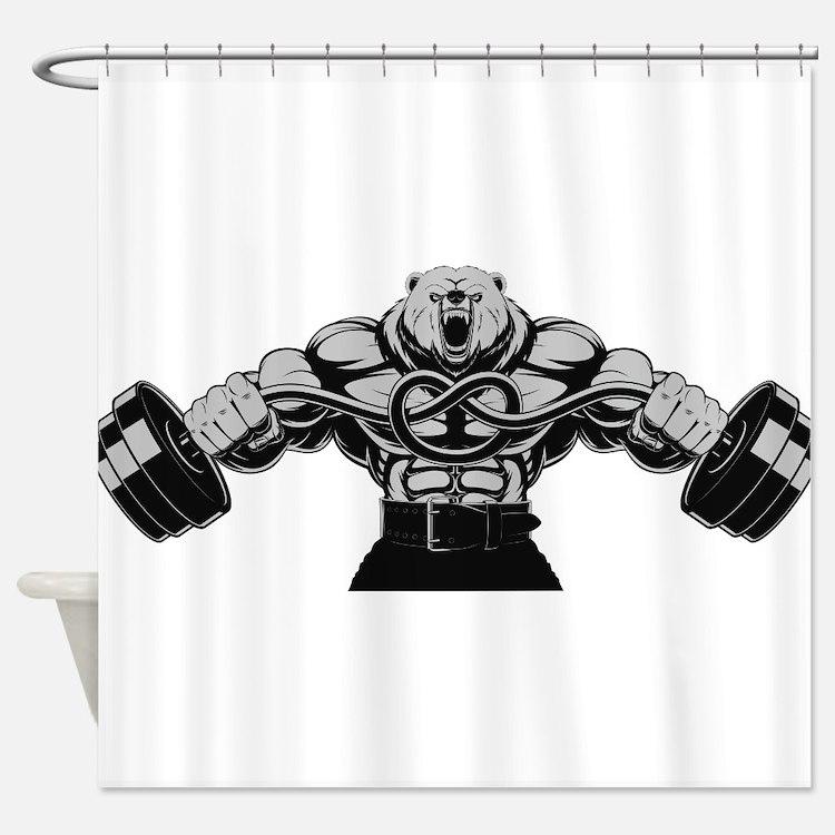 Gym Maniac Shower Curtain