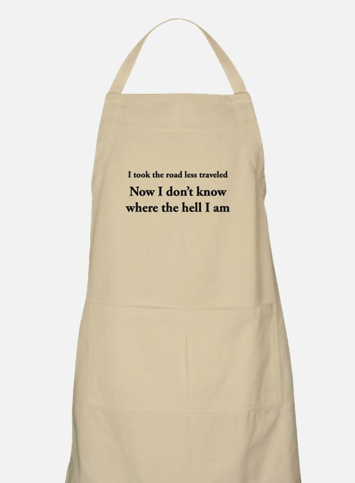 The road less traveled Apron