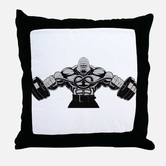Gym Maniac Throw Pillow