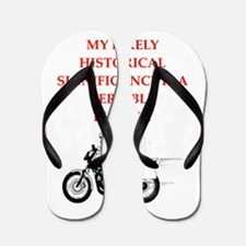 dirt bike joke Flip Flops