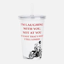 dirt bike joke Acrylic Double-wall Tumbler