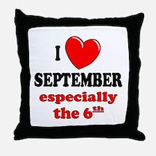 September 6th Throw Pillow