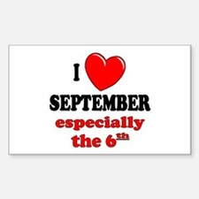 September 6th Rectangle Bumper Stickers
