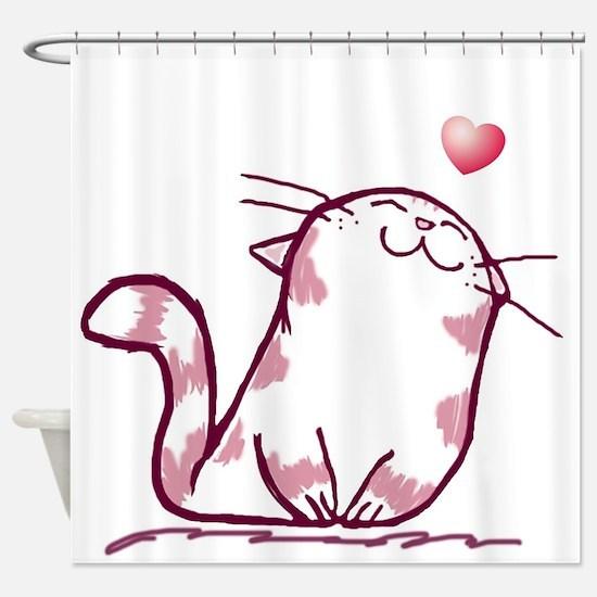 Kitty Love Shower Curtain