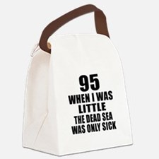 95 When I Was Little Birthday Canvas Lunch Bag