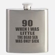 90 When I Was Little Birthday Flask