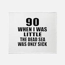 90 When I Was Little Birthday Throw Blanket