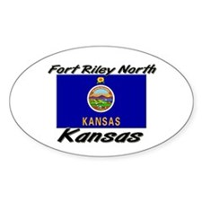 Fort Riley North Kansas Oval Decal