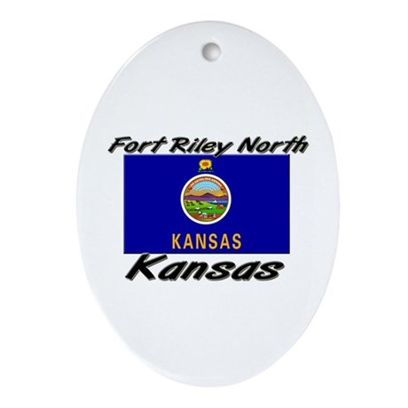 Fort Riley North Kansas Oval Ornament