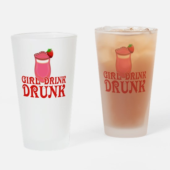Funny Girl Drink Drunk Drinking Glass