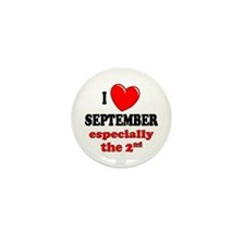 September 2nd Mini Button (100 pack)
