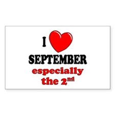September 2nd Rectangle Decal