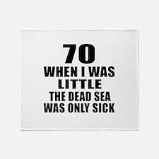 70 When I Was Little Birthday Throw Blanket