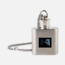 Just hangin' out - black-blue Flask Necklace