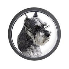 Schnauzer Portrait Art Wall Clock