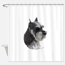 Schnauzer Portrait Art Shower Curtain