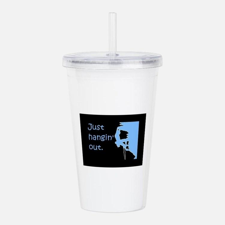 Just hangin' out - bla Acrylic Double-wall Tumbler