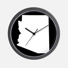 arizona white black Wall Clock