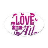 Animals rights Oval Car Magnets
