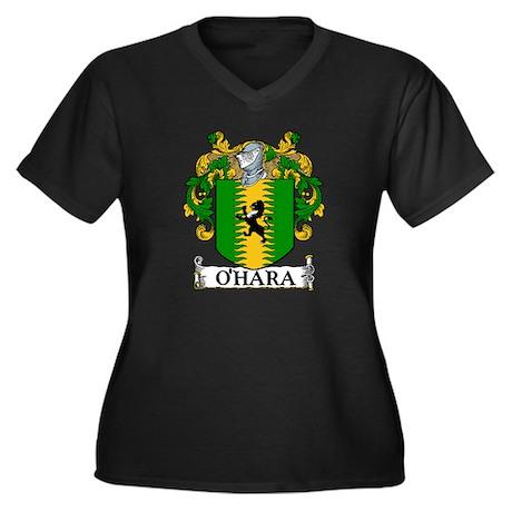 O'Hara Coat of Arms Women's Plus Size V-Neck Dark