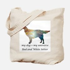RED and WHITE SETTER Tote Bag