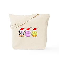 Cow, Pig & Chicken Santas Tote Bag