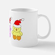 Cow, Pig & Chicken Santas Mug