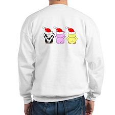 Cow, Pig & Chicken Santas Sweatshirt