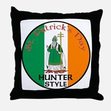 Hunter, St. Patrick's Day Throw Pillow