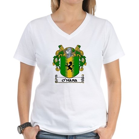O'Hara Coat of Arms Women's V-Neck T-Shirt