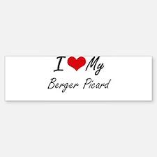 I love my Berger Picard Bumper Bumper Bumper Sticker