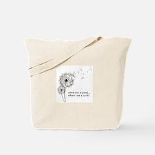 Dandelion seed wish Tote Bag
