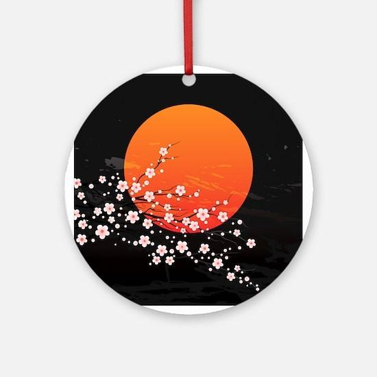 Asian Night Round Ornament