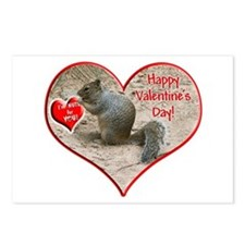 Helaine's Squirrel Valentine Postcards (Package of