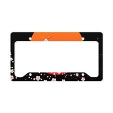 Asian Night License Plate Holder
