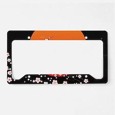 Asian Night License Plate Holder