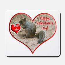 Helaine's Squirrel Valentine Mousepad
