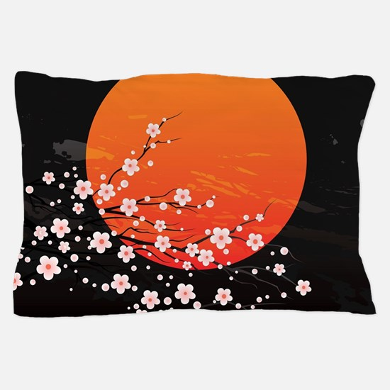 Asian Night Pillow Case