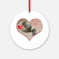 Helaine's Squirrel Valentine Ornament (Round)