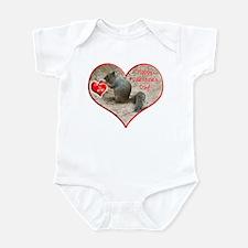 Helaine's Squirrel Valentine Infant Bodysuit