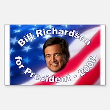 """Bill Richardson 2008"" Rectangle Decal"
